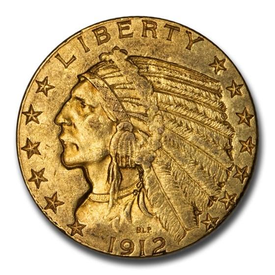 1912 $5 Indian Gold Half Eagle XF