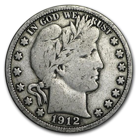 1912 Barber Half Dollar Fine