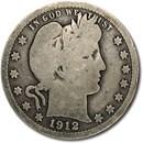 1912 Barber Quarter Good/VG