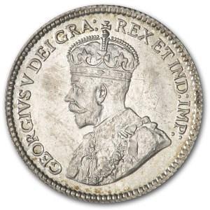 1912 Canada 5 Cents Silver BU KM#22 George V