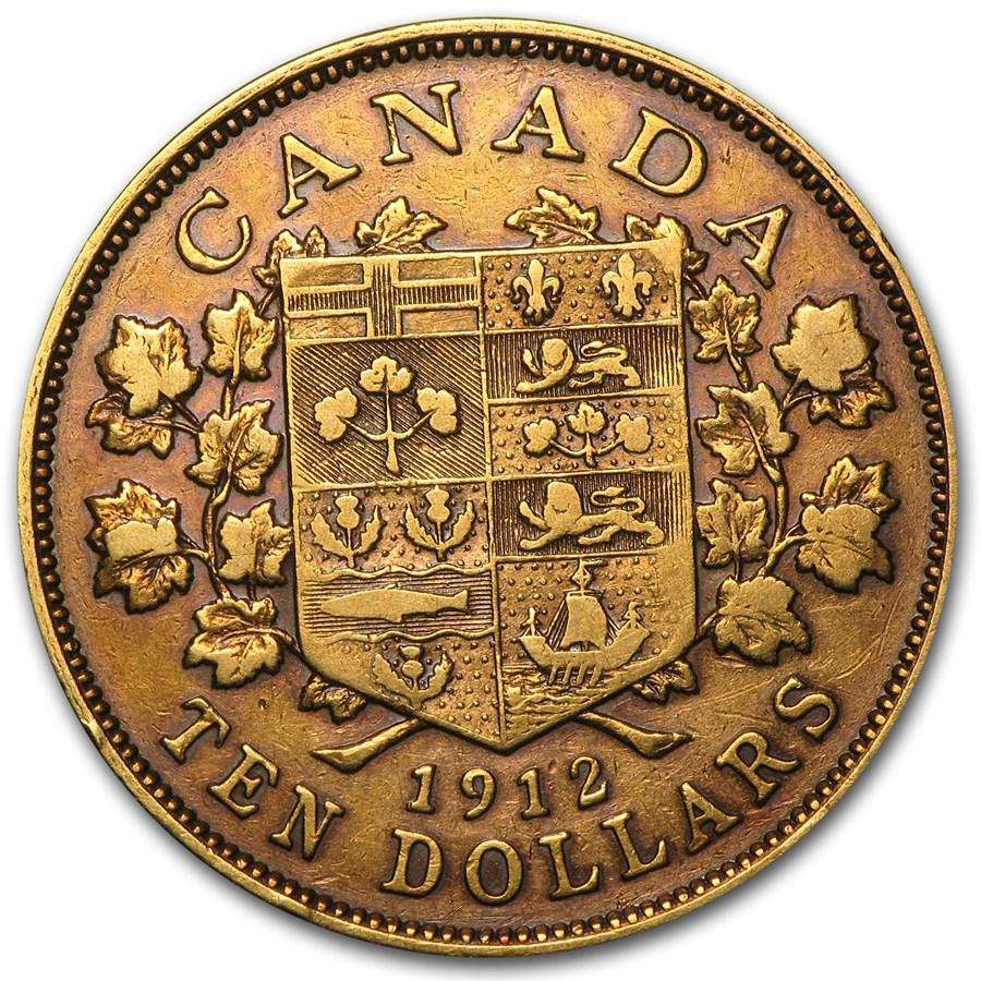 1912 Canada Gold $10 VF