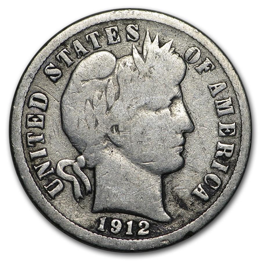 1912-D Barber Dime Good/VG