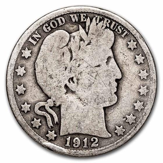 1912-D Barber Half Dollar Good