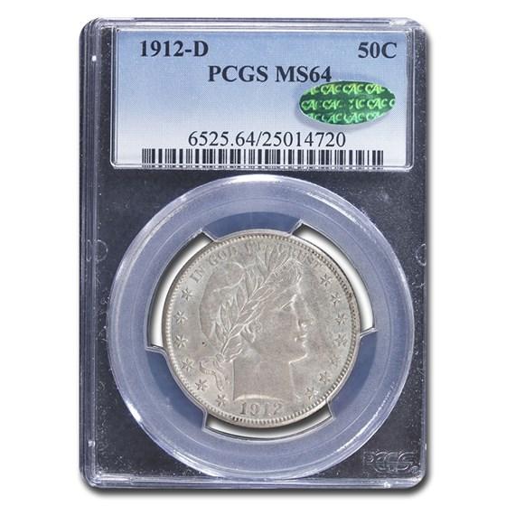1912-D Barber Half Dollar MS-64 PCGS CAC