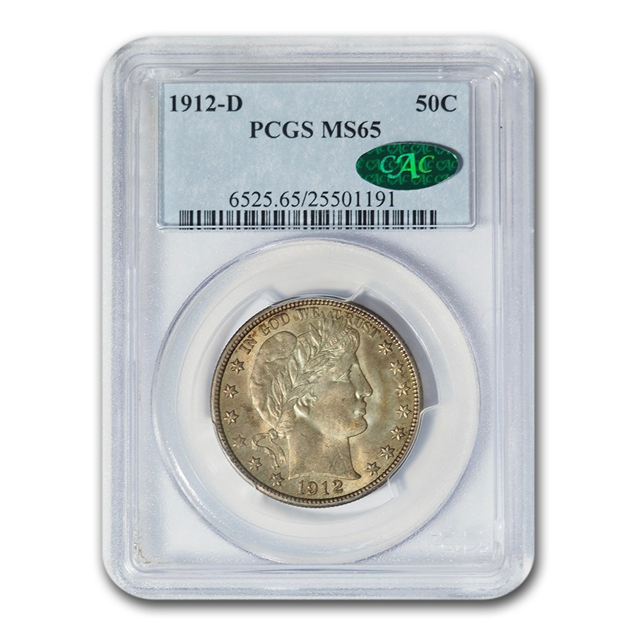 1912-D Barber Half Dollar MS-65 PCGS CAC