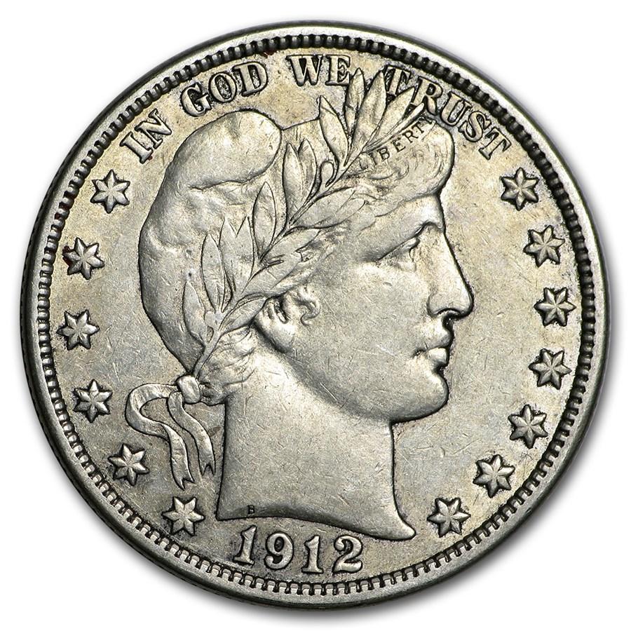 1912-D Barber Half Dollar XF