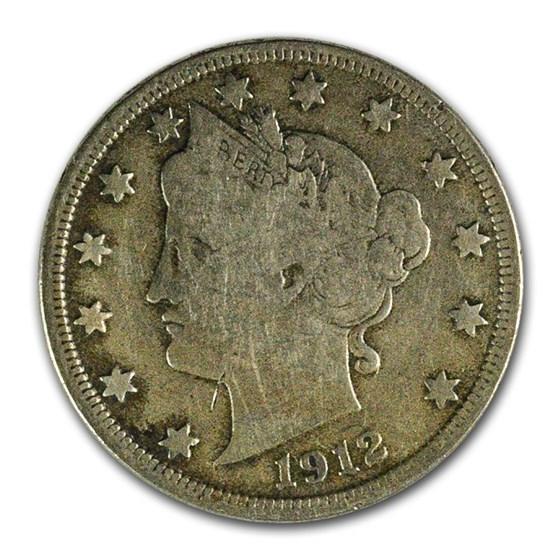 1912-D Liberty Head V Nickel Fine