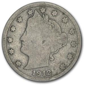 1912-D Liberty Head V Nickel Good+