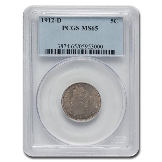 1912-D Liberty Head V Nickel MS-65 PCGS