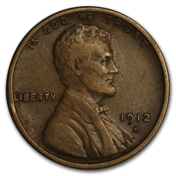 1912-D Lincoln Cent VF