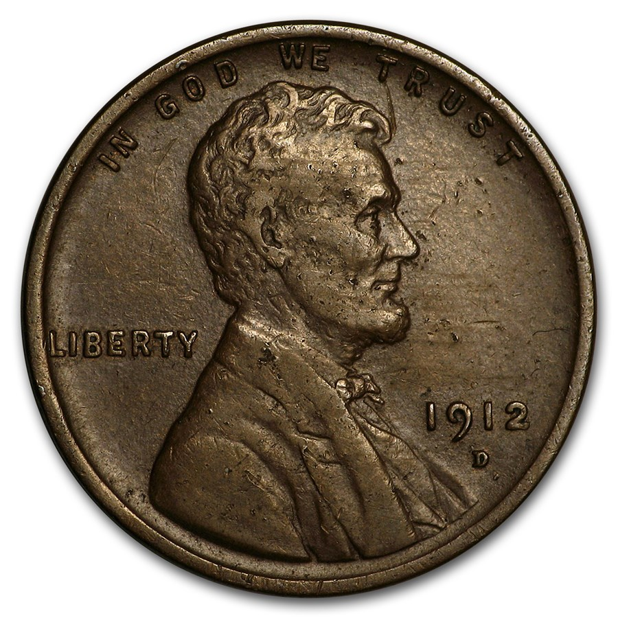 1912-D Lincoln Cent XF