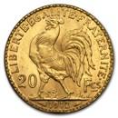 1912 France Gold 20 Francs Rooster BU