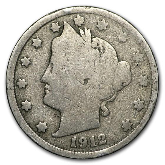 1912 Liberty Head V Nickel Good+