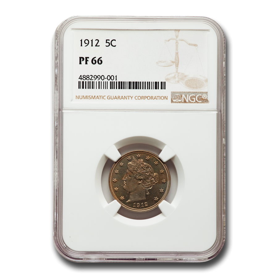 1912 Liberty Head V Nickel PF-66 NGC