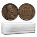 1912 Lincoln Cent 50-Coin Roll Avg Circ