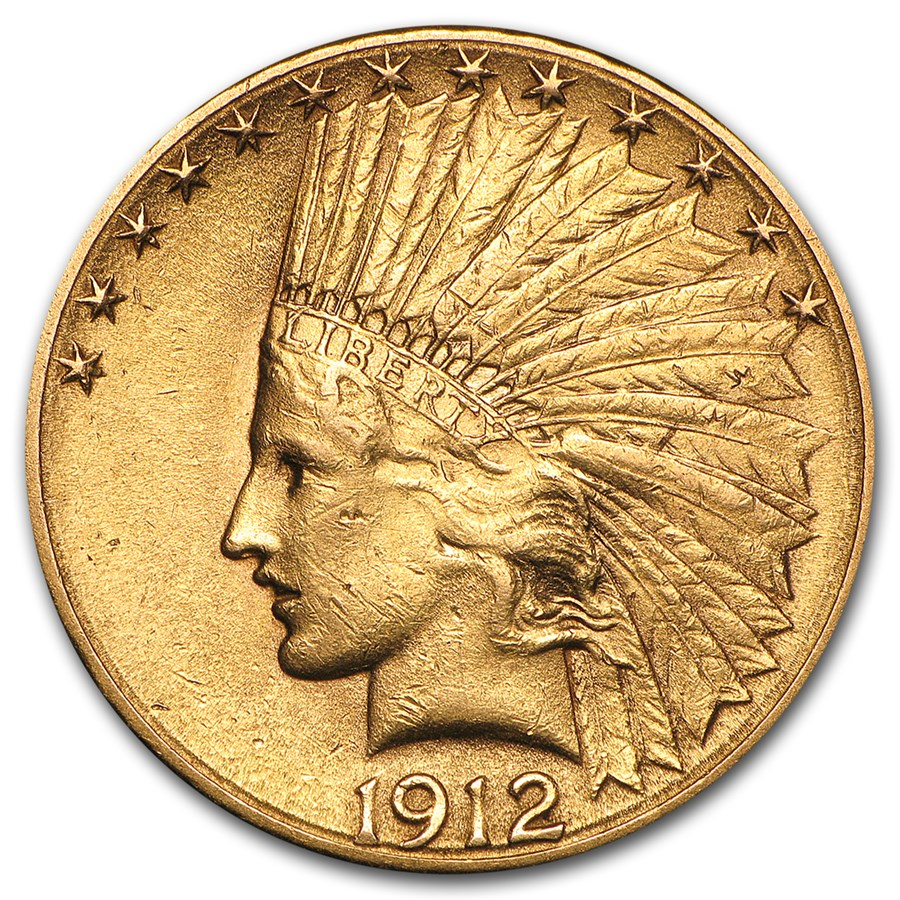 1912-S $10 Indian Gold Eagle AU