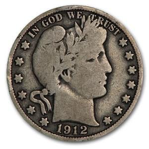 1912-S Barber Half Dollar Good