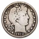 1912-S Barber Half Dollar VG
