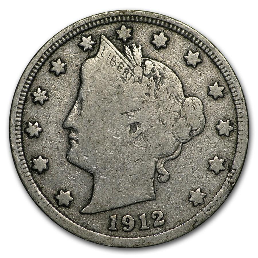 1912-S Liberty Head V Nickel Fine