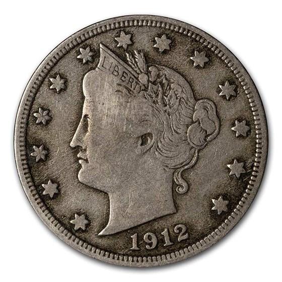 1912-S Liberty Head V Nickel VF