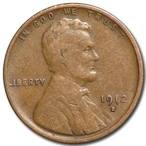 1912-S Lincoln Cent Fine