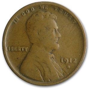 1912-S Lincoln Cent Good
