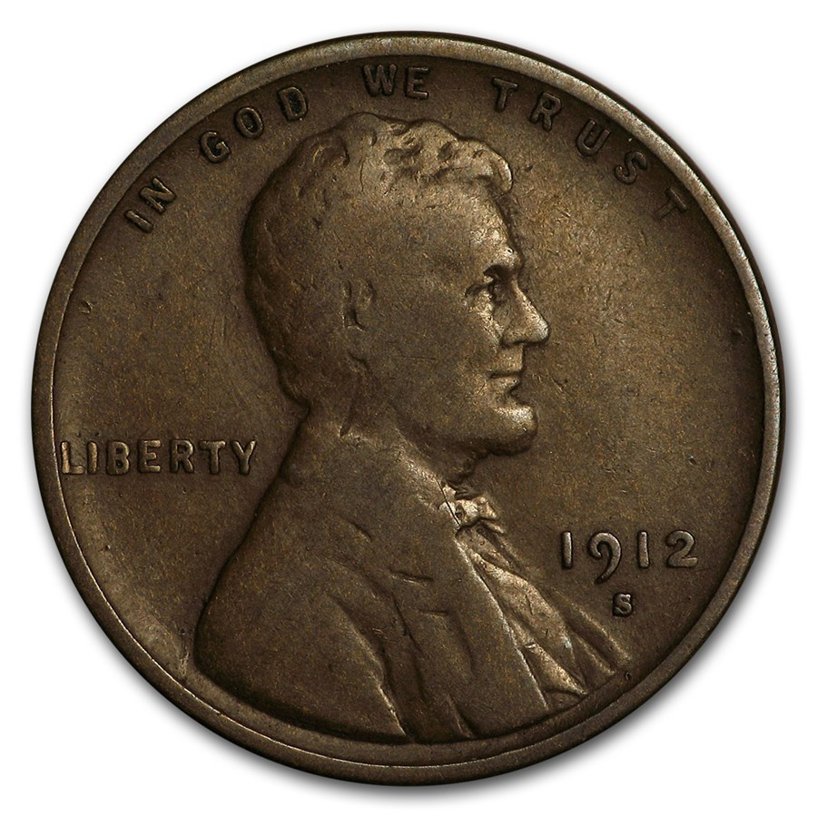 1912-S Lincoln Cent VG