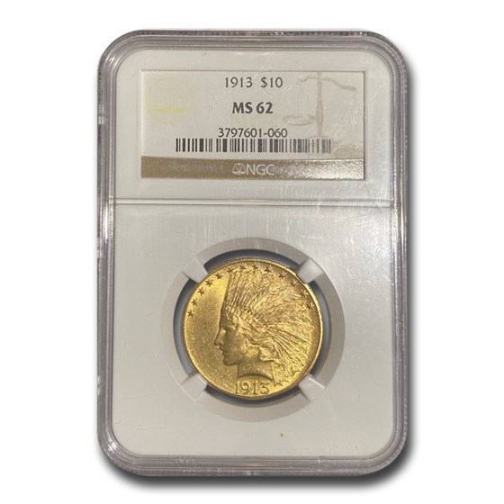1913 $10 Indian Gold Eagle MS-62 NGC