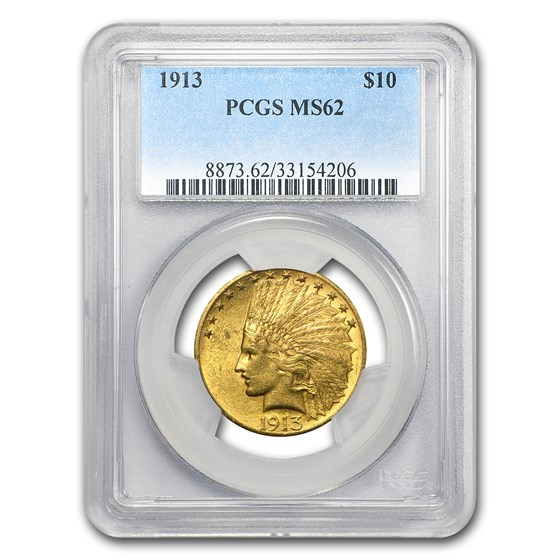 1913 $10 Indian Gold Eagle MS-62 PCGS