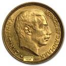 1913-1917 Denmark Gold 10 Kroner Christian X BU