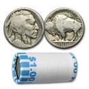 1913-1938 Buffalo Nickels $1.00 Face Value 20-Coins (No Dates)