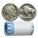 1913-1938 Buffalo Nickels $1 Face Value Roll (Full Dates)