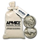1913-1938 Buffalo Nickels No Dates $50 Bags (1,000 Coins)
