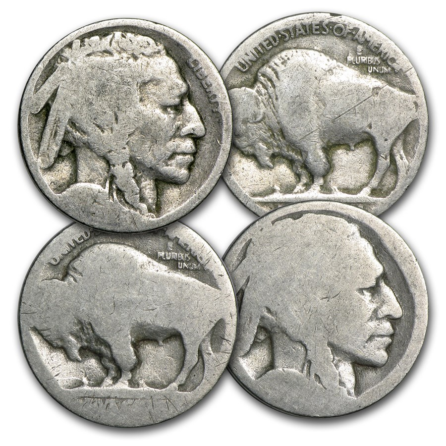 1913-1938 Buffalo Nickels (No Dates)