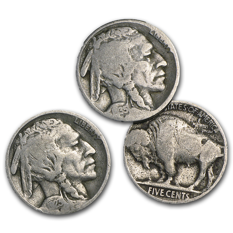 1913-1938 Buffalo Nickels Full Dates