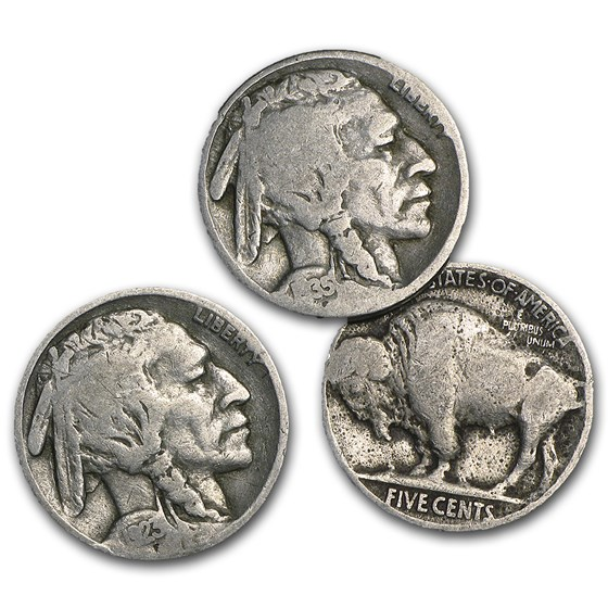 1913-1938 Buffalo Nickels (Partial Dates)