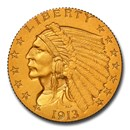 1913 $2.50 Indian Gold Quarter Eagle PF-67 NGC