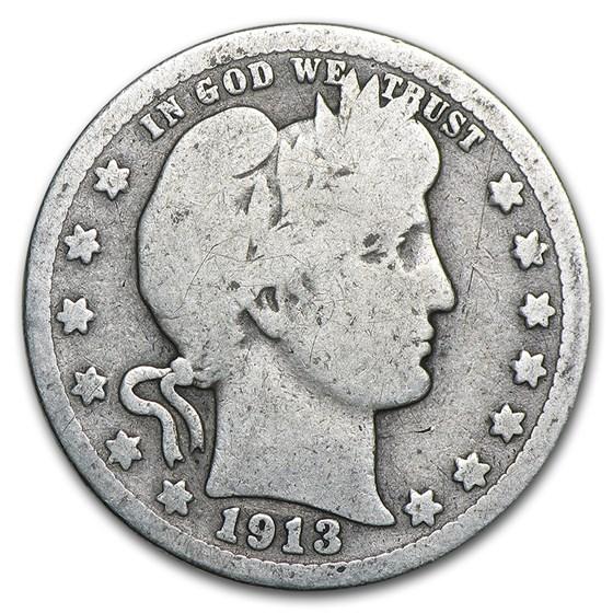 1913 Barber Quarter Good