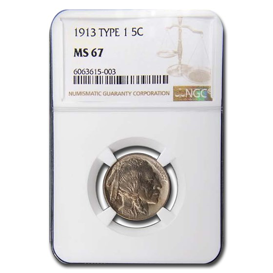 1913 Buffalo Nickel Type-I MS-67 NGC