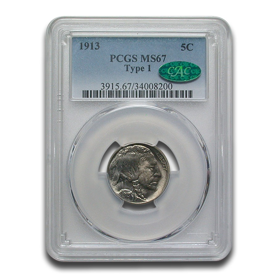 1913 Buffalo Nickel Type-I MS-67 PCGS CAC