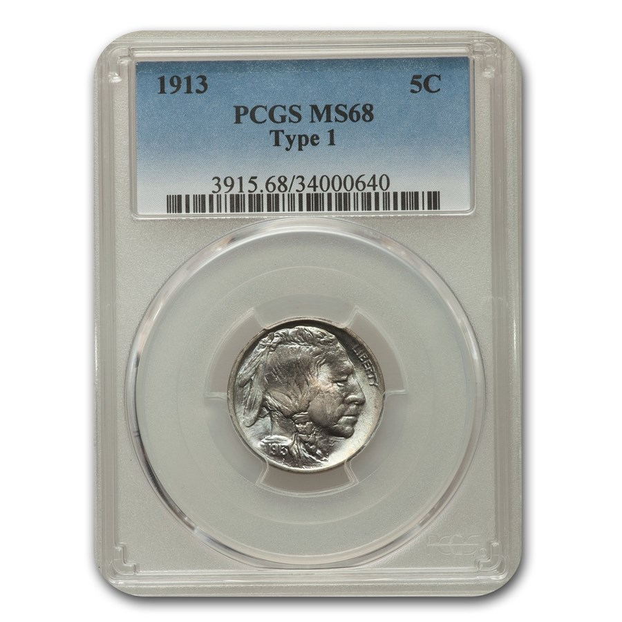 1913 Buffalo Nickel Type-I MS-68 PCGS
