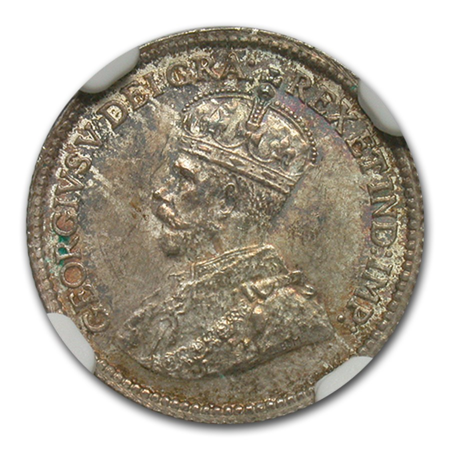 1913 Canada Silver 5 Cents MS-64 NGC