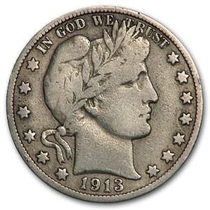 1913-D Barber Half Dollar Fine (Details)