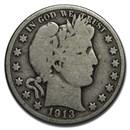 1913-D Barber Half Dollar Good