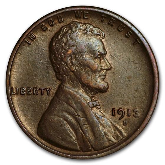 1913-D Lincoln Cent AU
