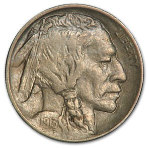 1913-D Type-I Buffalo Nickel XF