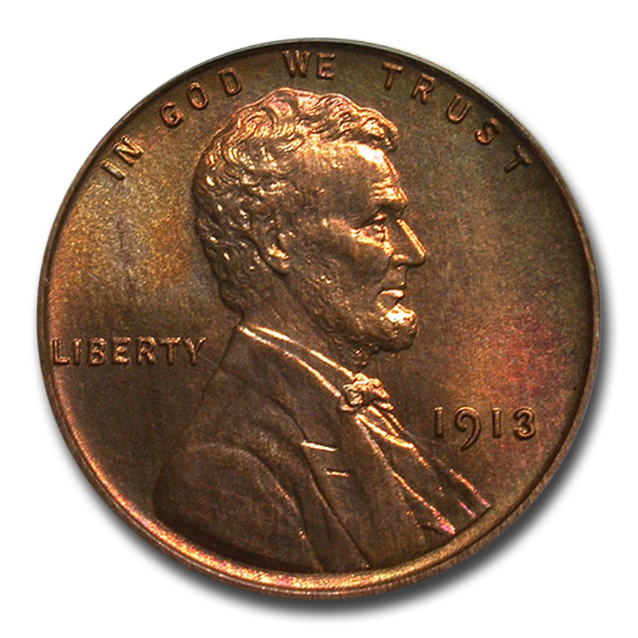 1913 Lincoln Cent PR-64 PCGS CAC (Red/Brown)