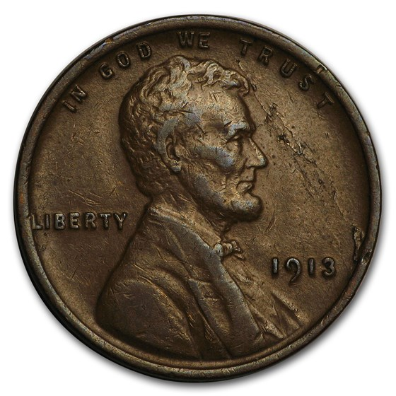 1913 Lincoln Cent XF