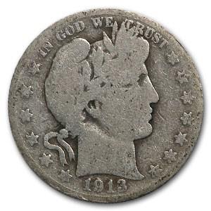 1913-S Barber Half Dollar AG
