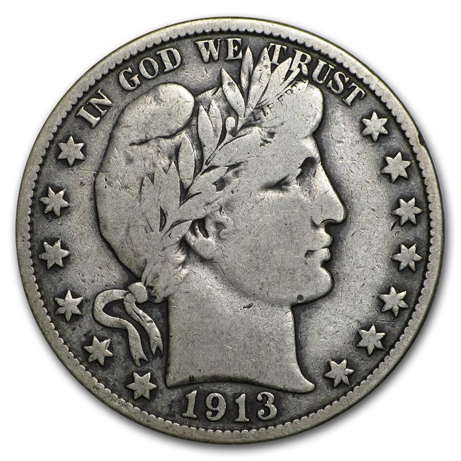 1913-S Barber Half Dollar Fine